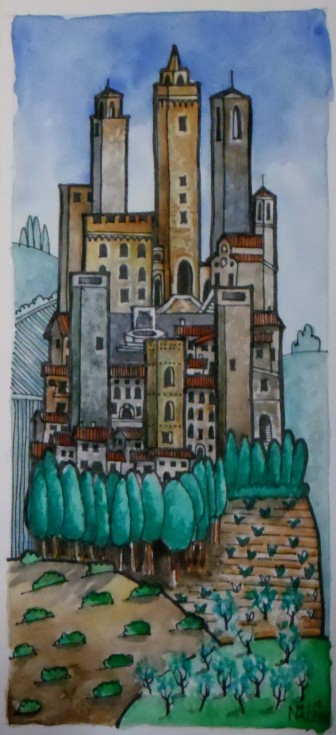 Painting San Gimignano