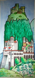 Watercolor of Assisi