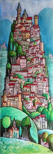Italian hill town Trevi