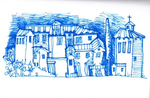 Town sketch