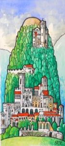 Painting Gubbio, Italy
