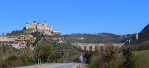 Spoleto Castle and aqueduct