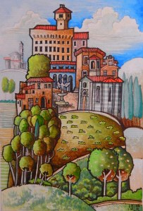Tuscan Umbrian Hill Town