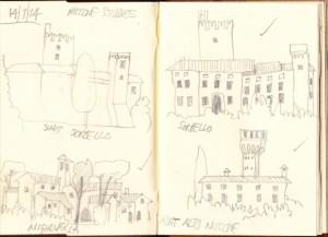 Niccone castle sketches