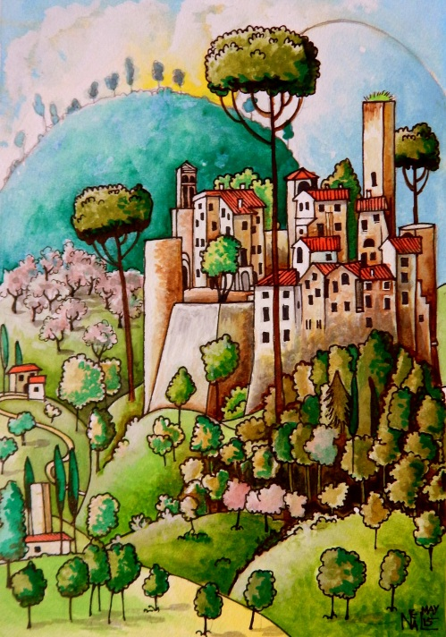 Italian medieval village
