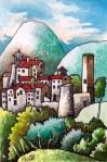 Borgo S. Giuliana 10.15cm Watercolour