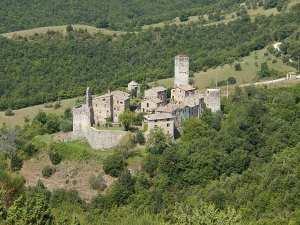watercolor Italian village