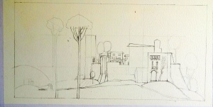 Medieval Village sketch