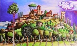 Torgiano Town Umbria