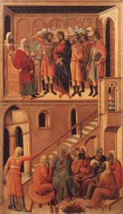 DUCCIO FIRST DENIAL OF PETER