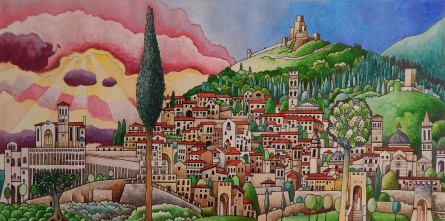 watercolor Assisi